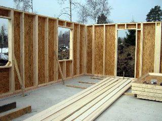 Строительство каркасно щитовой бани