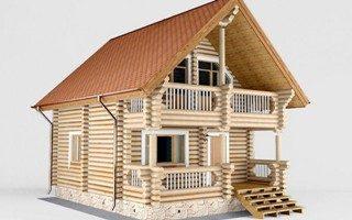 Проекты домов 5х5 из оцилиндрованного бревна в Новосибирске
