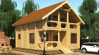 Проекты домов 5х6 из оцилиндрованного бревна в Новосибирске