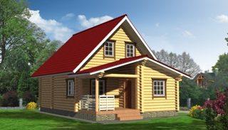 Проекты домов из бревна в Новосибирске