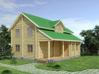 Проекты домов из бревна 5х7 в Новосибирске