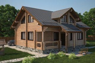 Проекты домов 6х7 из оцилиндрованного бревна в Новосибирске