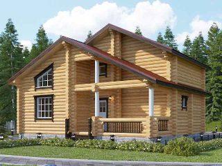 Проекты домов 6х9 из оцилиндрованного бревна в Новосибирске