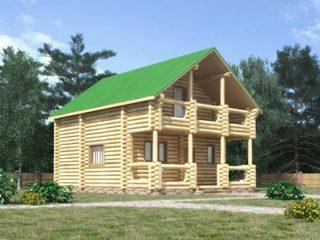 Проекты домов 7х7 из оцилиндрованного бревна в Новосибирске