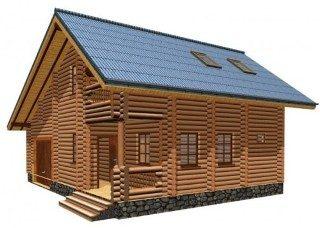 Проекты домов 7х8 из оцилиндрованного бревна в Новосибирске
