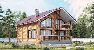 Проекты домов 8х10 из оцилиндрованного бревна в Новосибирске
