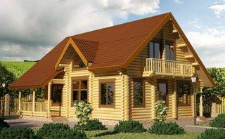 Проекты домов 9х9 из оцилиндрованного бревна в Новосибирске