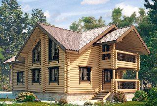 Проекты домов 9х10 из оцилиндрованного бревна в Новосибирске