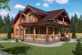 Проекты домов 9х12 из оцилиндрованного бревна в Новосибирске
