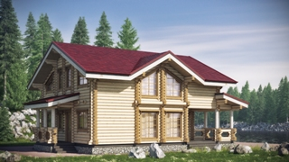 Проекты домов 10х10 из оцилиндрованного бревна в Новосибирске