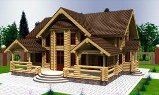 Проекты домов 10х12 из оцилиндрованного бревна в Новосибирске