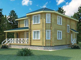 Проекты домов 12х12 из оцилиндрованного бревна в Новосибирске