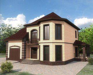 Проекты двухэтажных домов из кирпича в Новосибирске