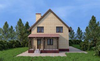 Проекты домов из кирпича 6х9 в Новосибирске