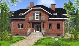 Проекты домов из кирпича 6х10 в Новосибирске