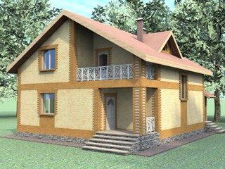 Проекты домов из кирпича 7х8 в Новосибирске