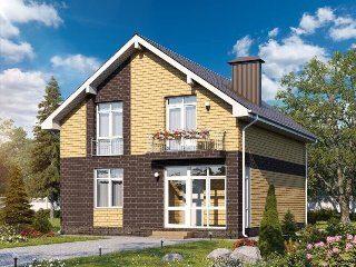 Проекты домов из кирпича 8х8 в Новосибирске