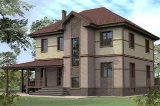 Проекты домов из кирпича 8х10 в Новосибирске