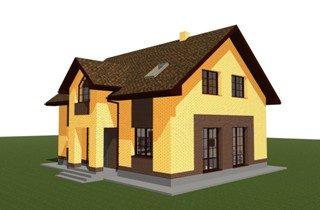 Проекты домов из кирпича 9х12 в Новосибирске