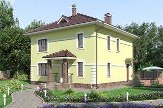 Проекты домов из кирпича 10х10 в Новосибирске