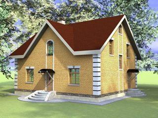 Проекты домов из кирпича 10х12 в Новосибирске