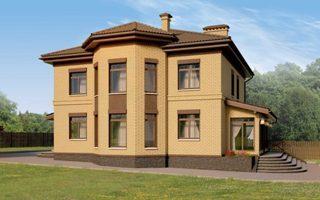 Проекты домов из кирпича 12х12 в Новосибирске