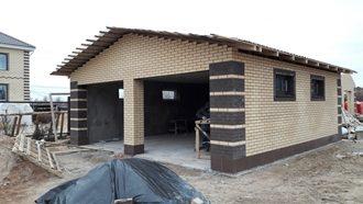 Строительство гаража из кирпича в Новосибирске