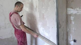 Фото процесса Выравнивание стен в Новосибирске