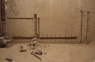 Фото процесса Штробление стен в Новосибирске