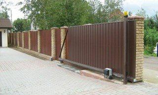 Откатные ворота под ключ в Новосибирске