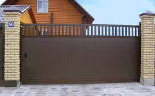 Фото процесса производства Металлические откатные ворота в Новосибирске
