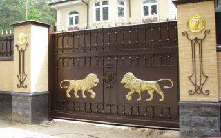 Кованые ворота откатные в Новосибирске