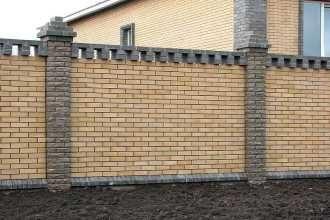 Кирпичный забор под ключ в Новосибирске