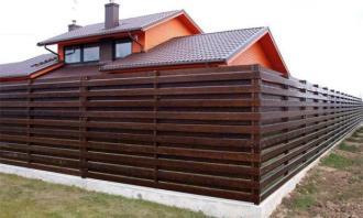 Деревянный забор под ключ в Новосибирске
